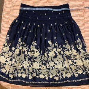 Sophie max dark royal floral skirt